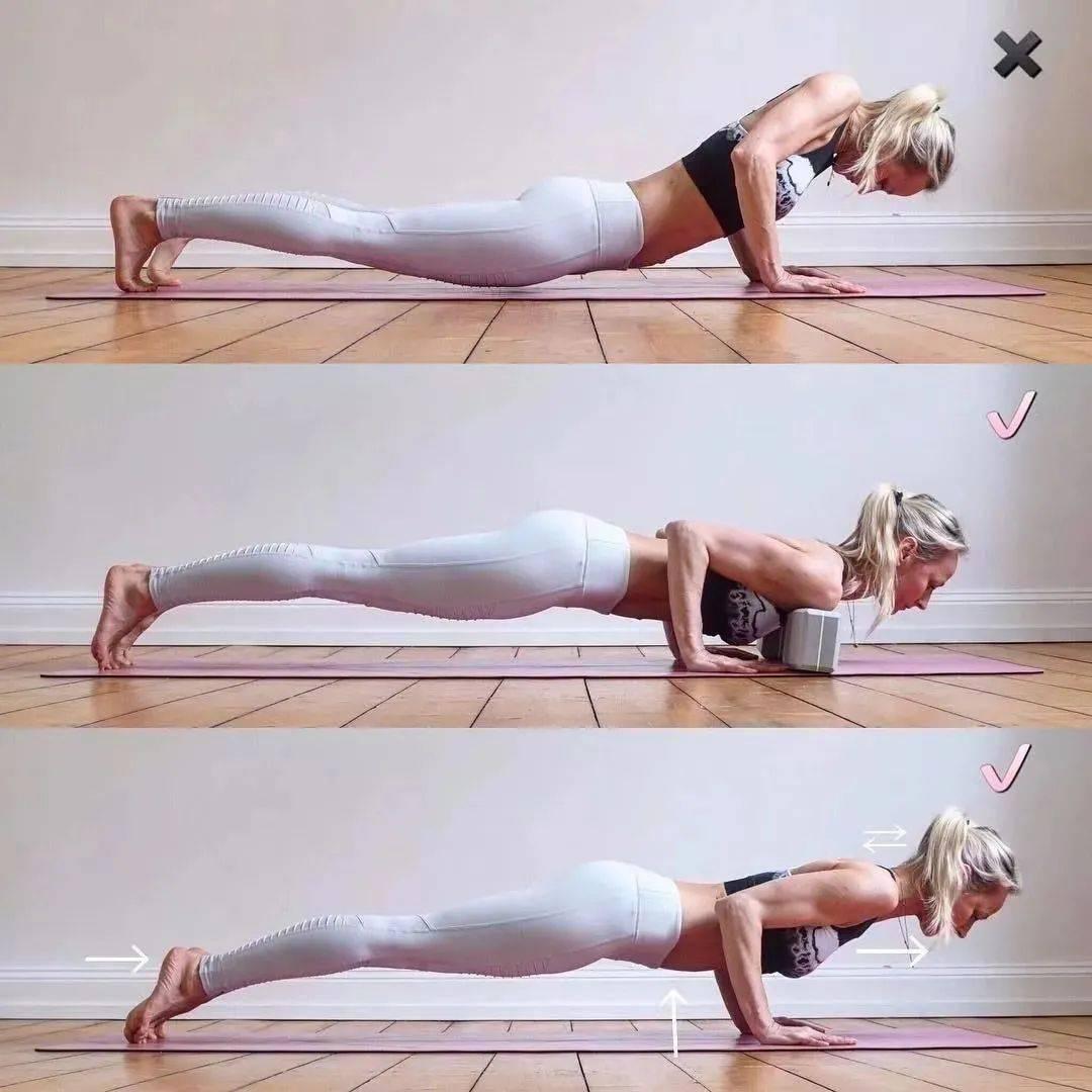 瑜伽初学者这样练习四柱支撑,简单多了!_动作