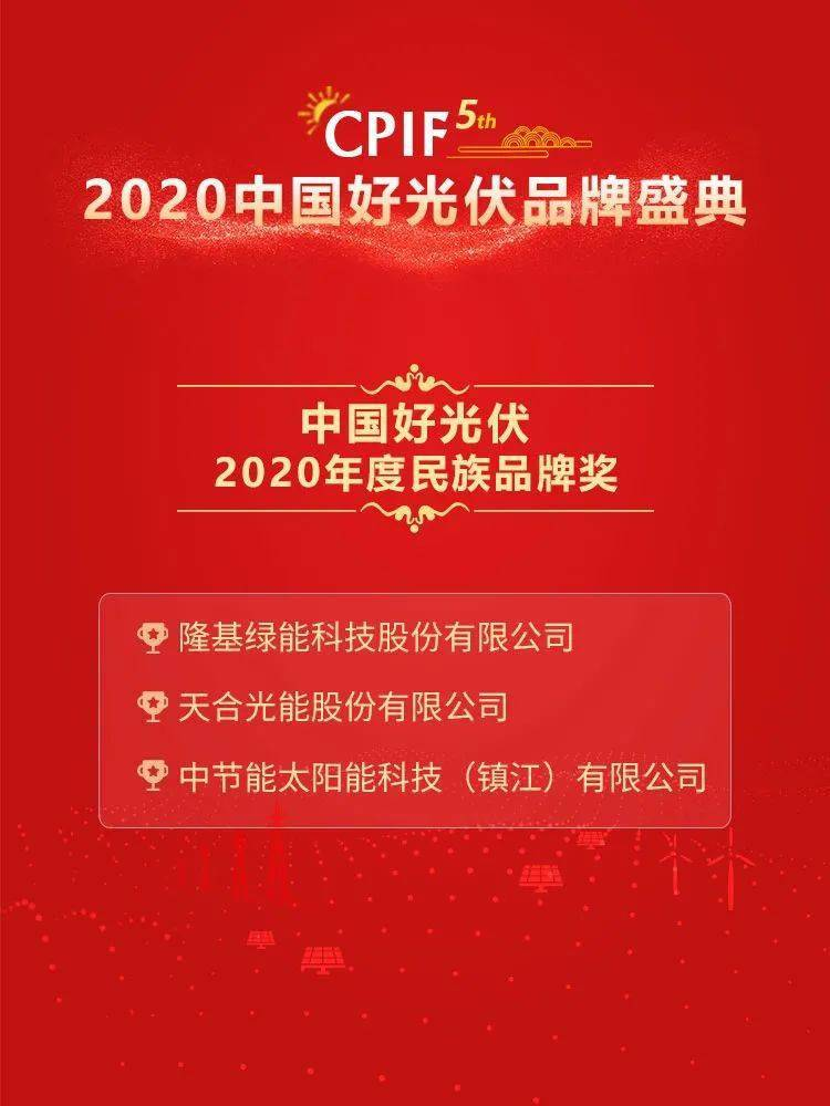 2020年度22项中国好光伏品