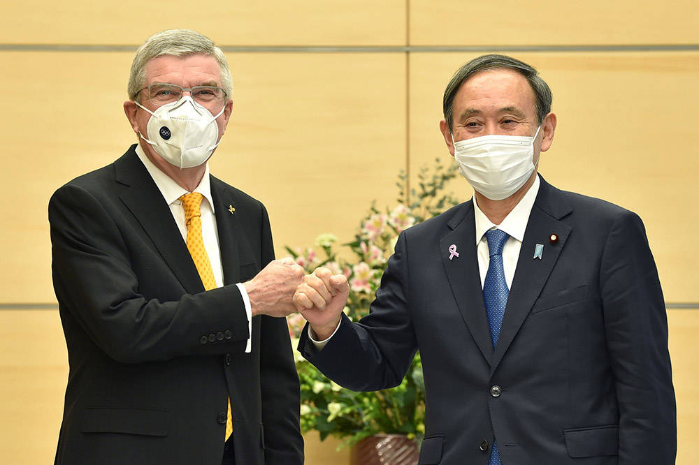 """巴赫与菅义伟举行会谈 """"有信心""""让观众现场观看奥运比赛"""