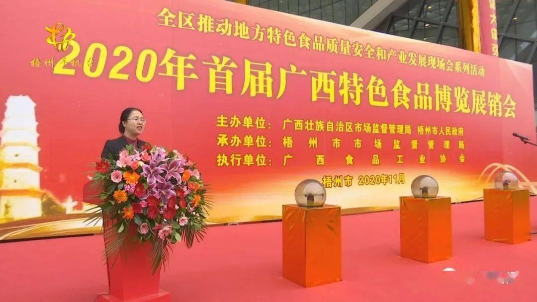 2020年首届广西特色食品博览展销会举行开幕(图4)
