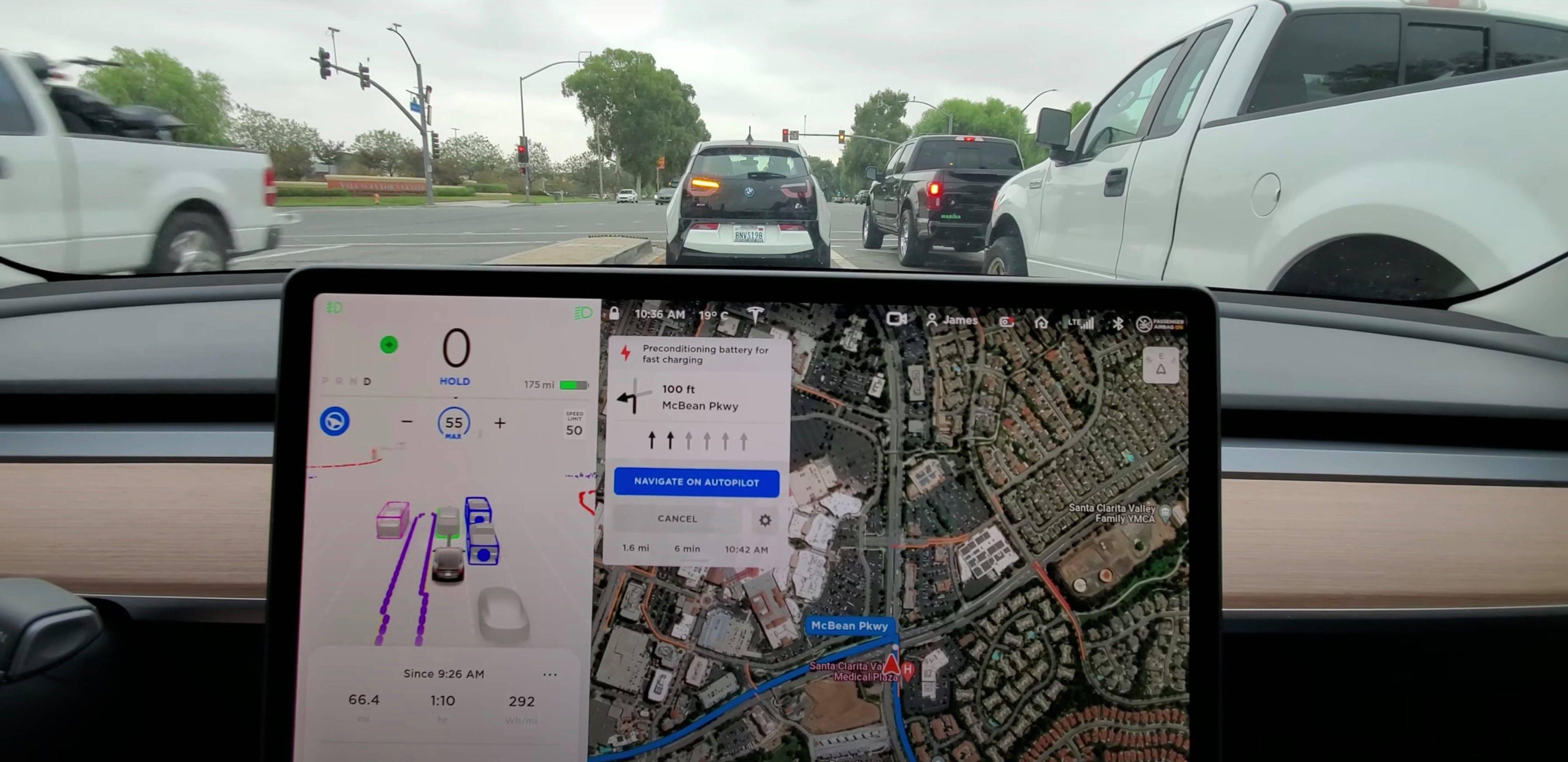 特斯拉的自动驾驶FSD Beta继续进化,车主记录了从旧金山到洛杉矶的旅程,一路畅通无阻