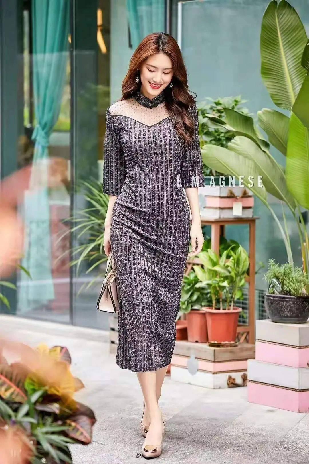 设计感连衣裙,优雅知性显品味