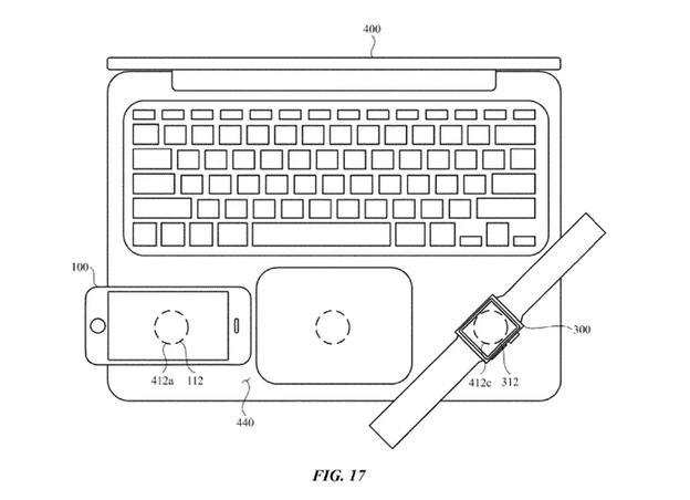 苹果一项新专利曝光:电子设备之间的电感充电!专利申请要趁早!