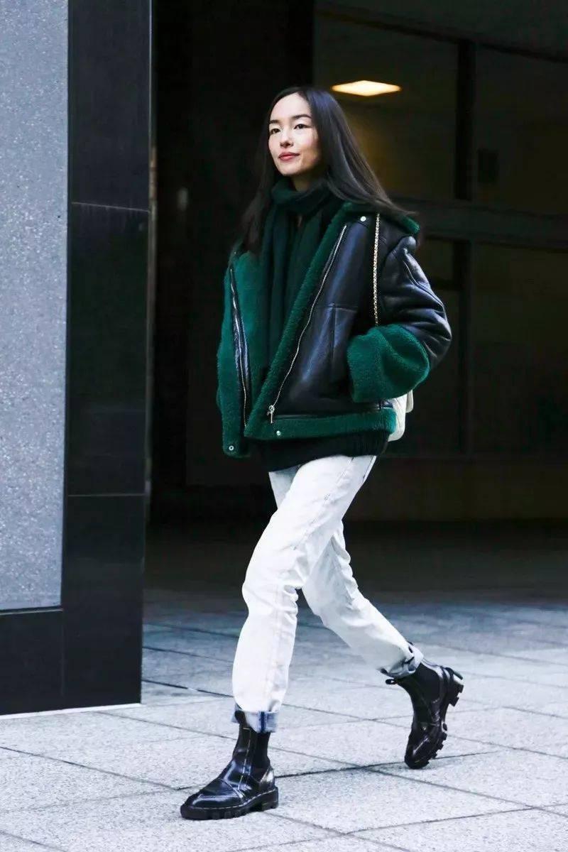 冬天穿白裤子=很高级!!!