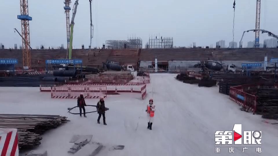 50天!重庆第一座超大型专业足球场地下结构封顶