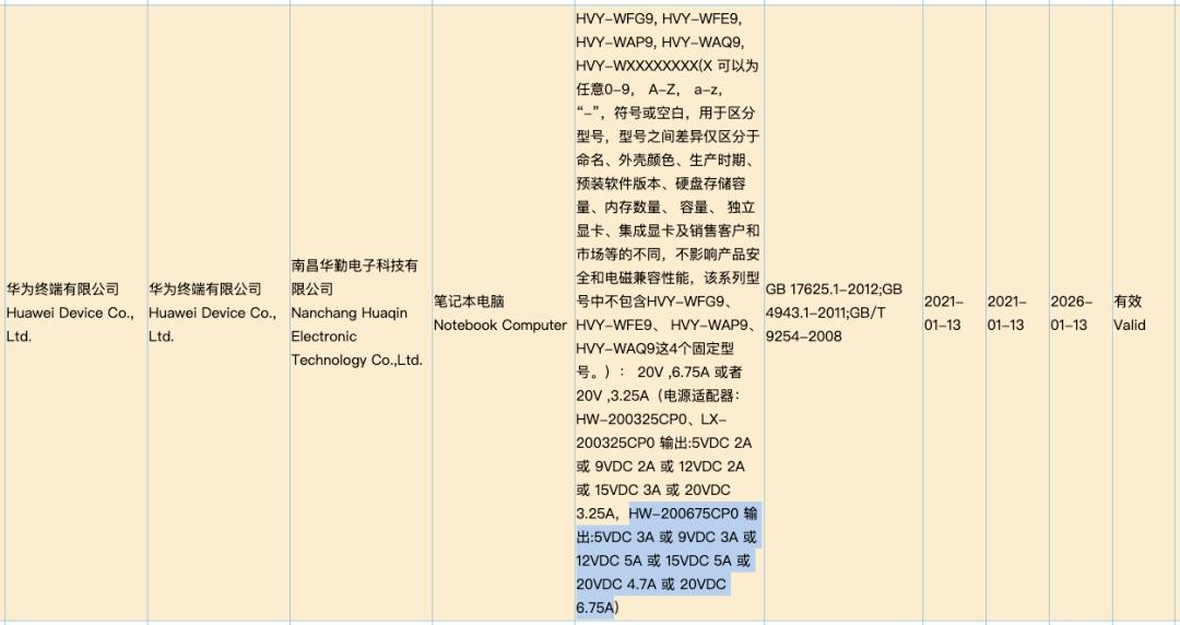 【品牌】华为135W快充新品获认证 并不是传闻中的MateX