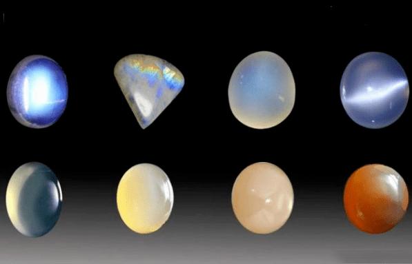 月光石不同的颜色与切割形状!怎样的月光石比较好?