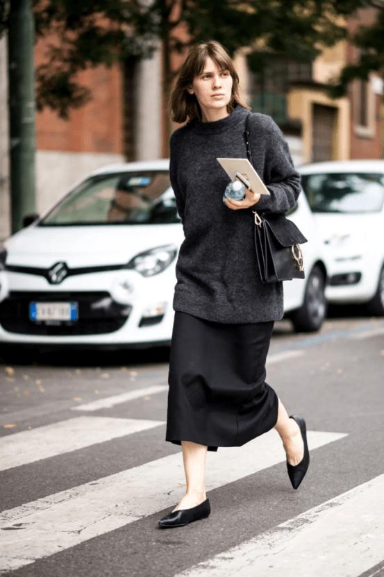 大毛衣+半裙 2020的气质通勤装就靠它了! 时尚家庭 第14张