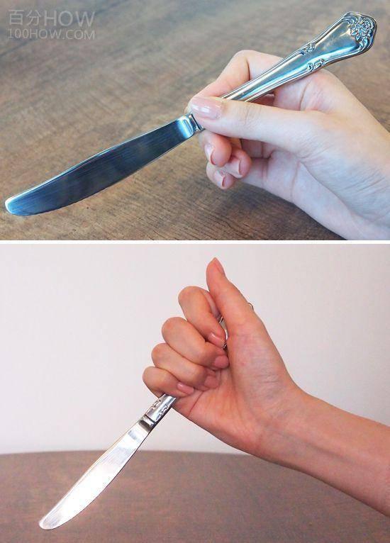 吃西餐刀叉怎么拿,西餐刀叉标准优雅的拿法左右手图解 网络快讯 第5张