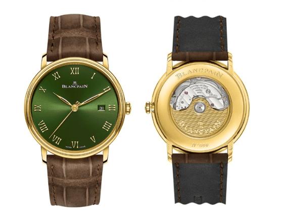 宝珀V系列再添新色 黄金绿缔造复古奢华之美