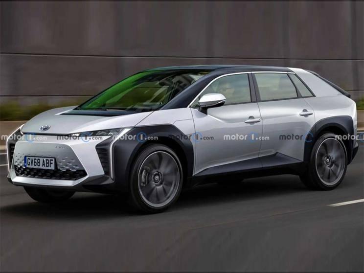代号或为BZ3 丰田纯电动SUV车型渲染图-XI全网