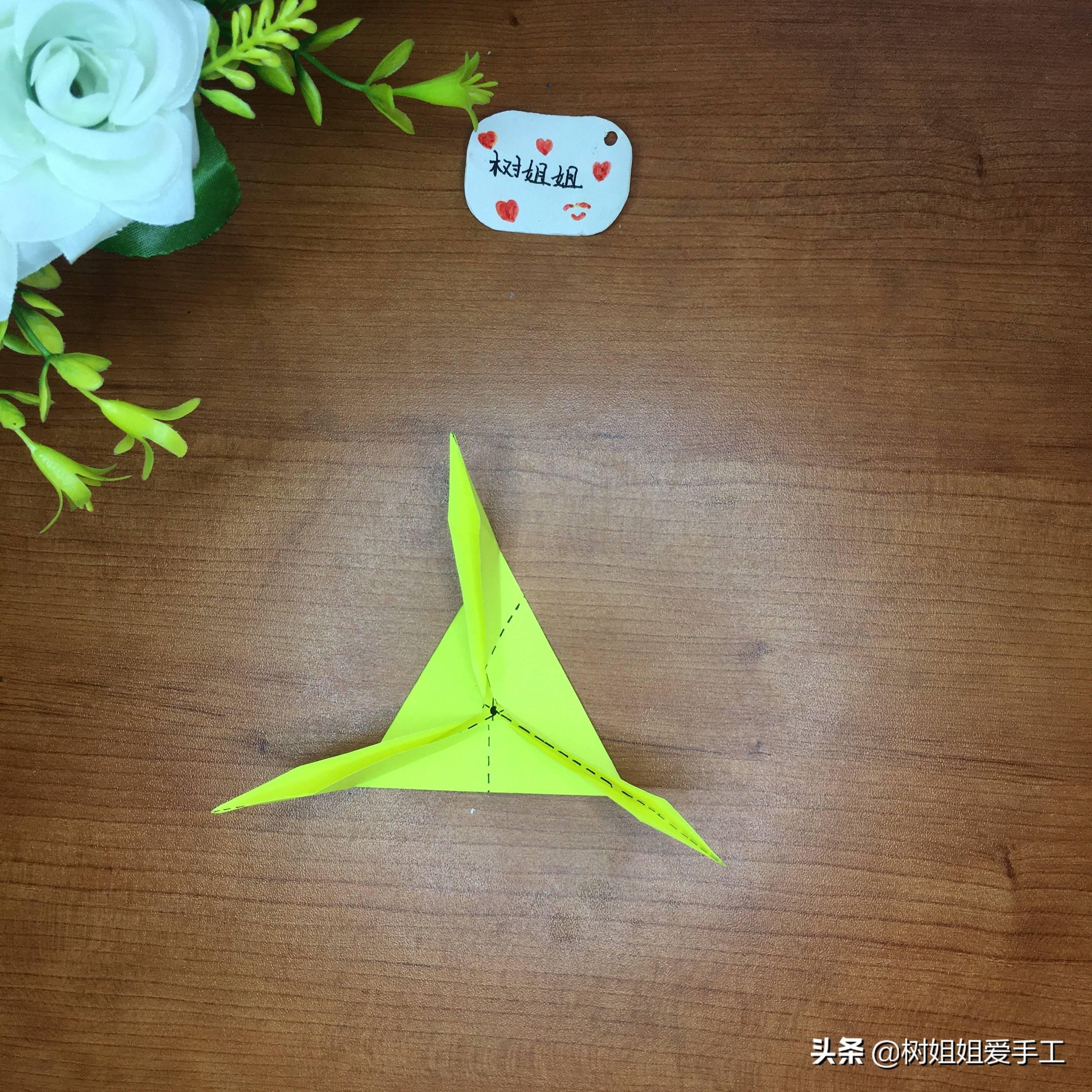 简单三角飞镖怎么折(可以变三种的飞镖)插图(7)