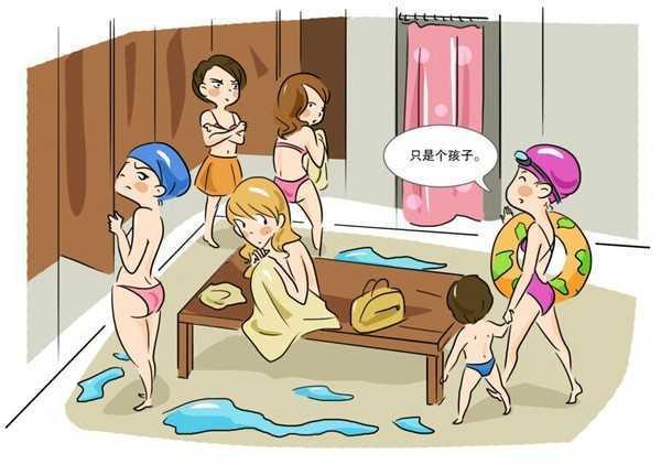 3岁男孩跟妈妈姥姥进浴室被拒,姥姥:孩子怎么小,他懂什么呢