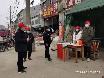 湖北省宜城市纪委检查督导李垱社区疫情防控工作