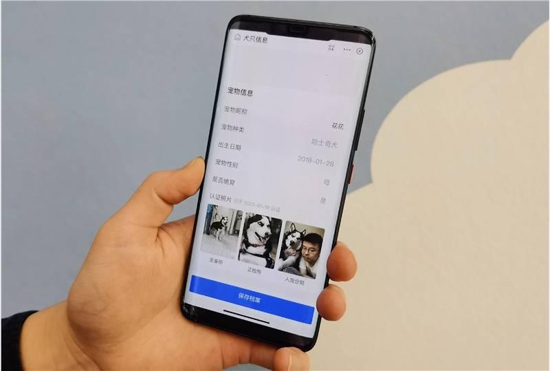 杭州率先推出寵物鼻紋身份證 全流程線上辦理