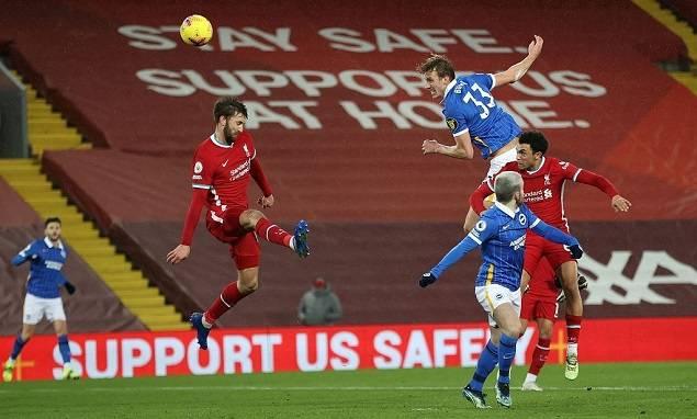 英超-萨拉赫失良机阿扎特制胜球 利物浦0-1布莱顿