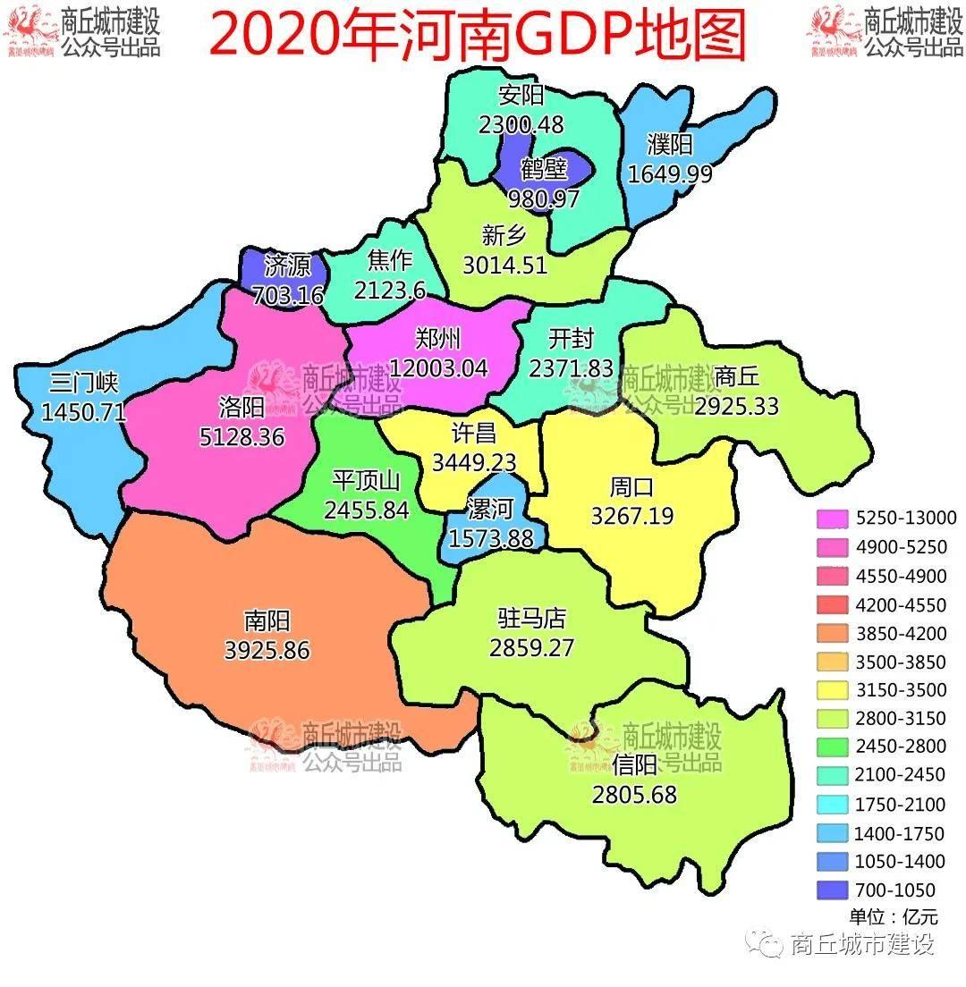 河南gdp各市排名2020_河南各市年降雨量排名