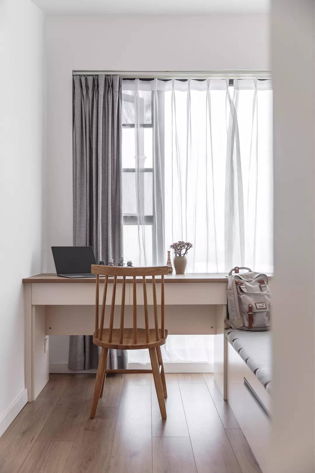 95㎡现代日式风三居,主卧带衣帽间+书房,收纳设计满分!