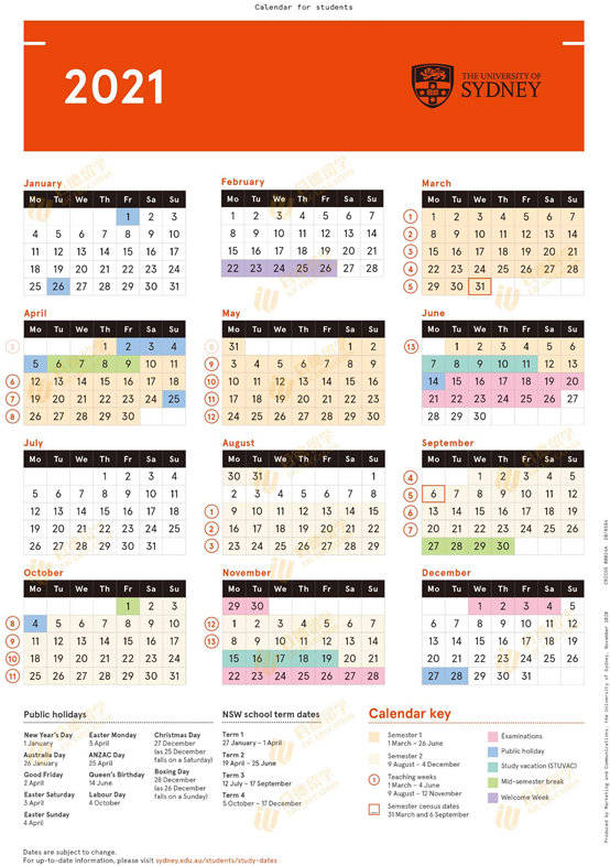 原创             澳洲大学假期大盘点:开学了,你在想什么?当然是想马上放假!