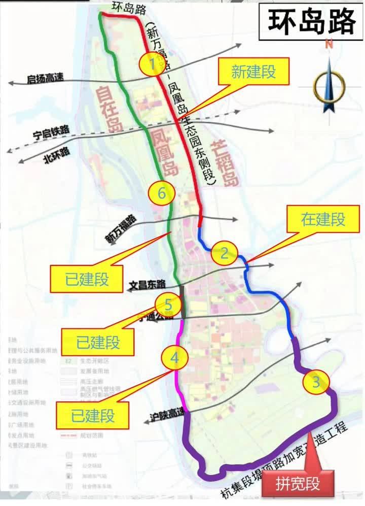扬州首条78公里环岛旅游景观大道建设进度过半