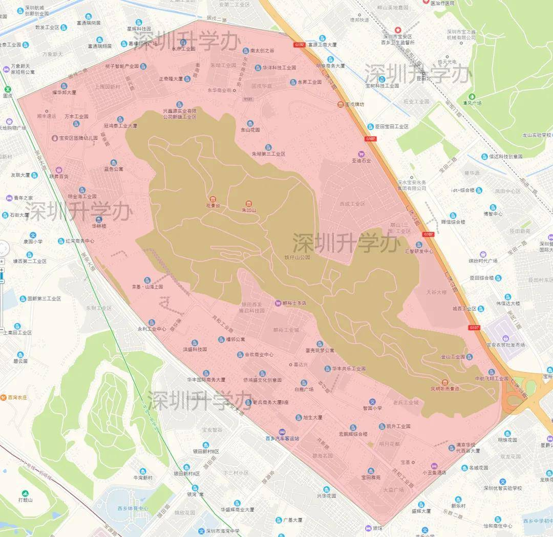 深圳宝安区西乡街道电子地图及介绍-小产权房558