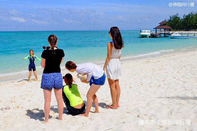 马来西亚沙巴绝美海岛,海水沙滩堪比马尔代夫,游客却很少