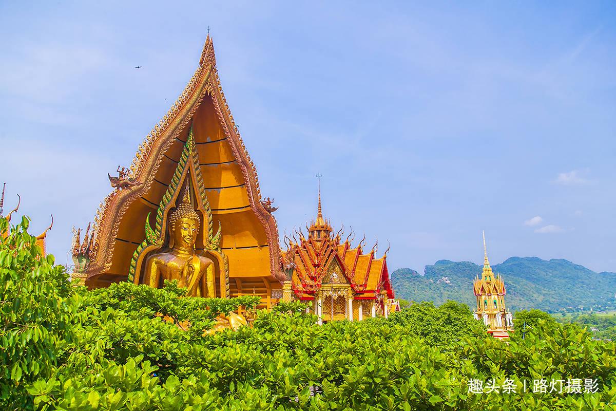 泰国最美的十大寺庙之一,北碧府虎穴寺,气势恢宏宛如云中宫殿