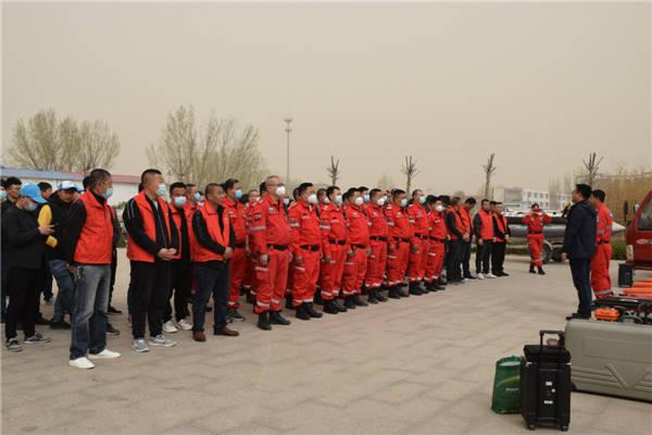 河北雄县昝岗镇联合雄州救援队开展安全培训及应急演练活动