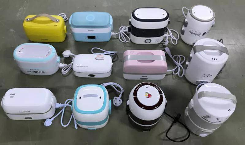 """12款电热饭盒测评:美的、小熊、志高加热效果好,两款出现""""夹生饭"""""""