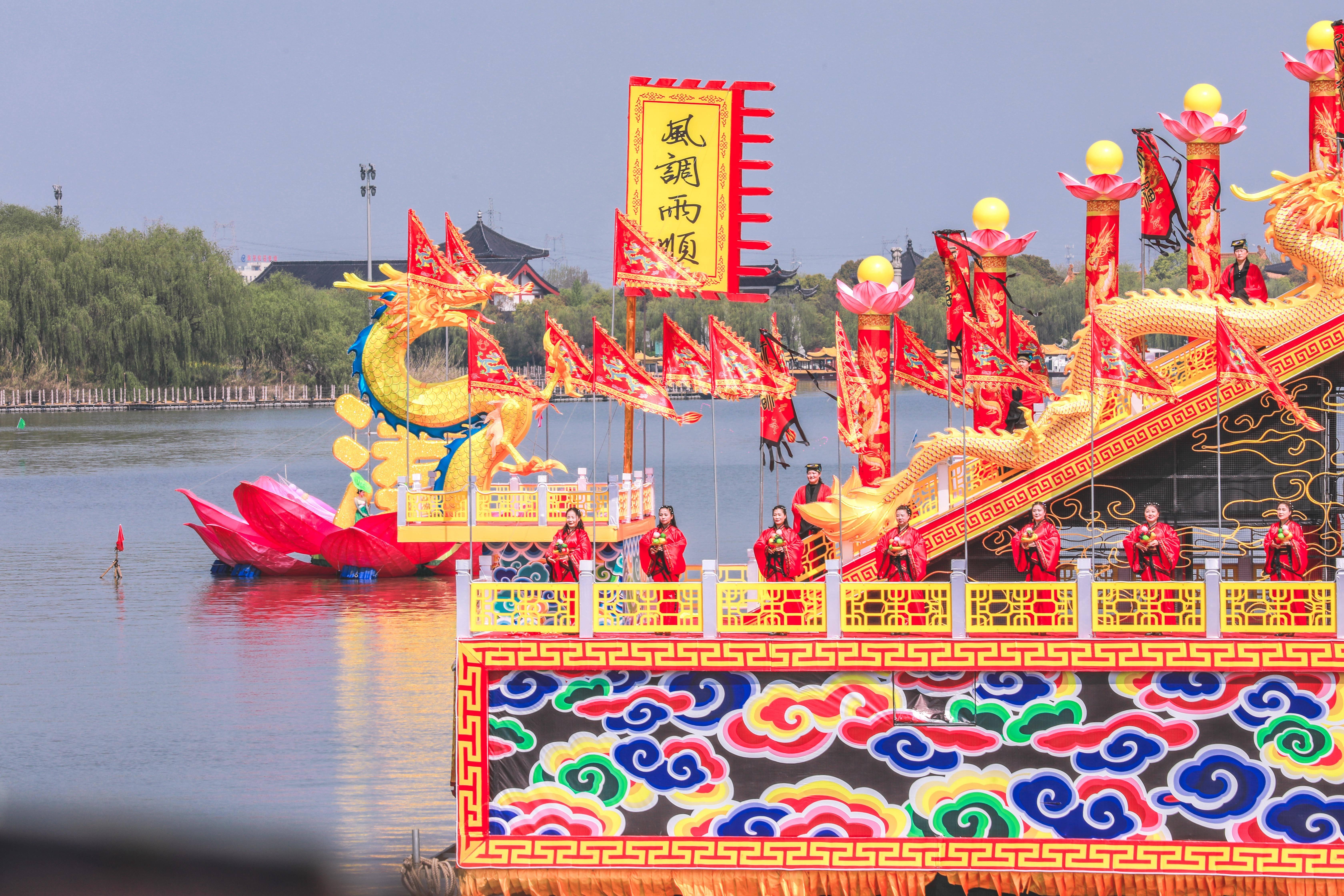 原创             4月来姜堰,参加溱潼会船节,它已被列为全国首批非物质文化遗产
