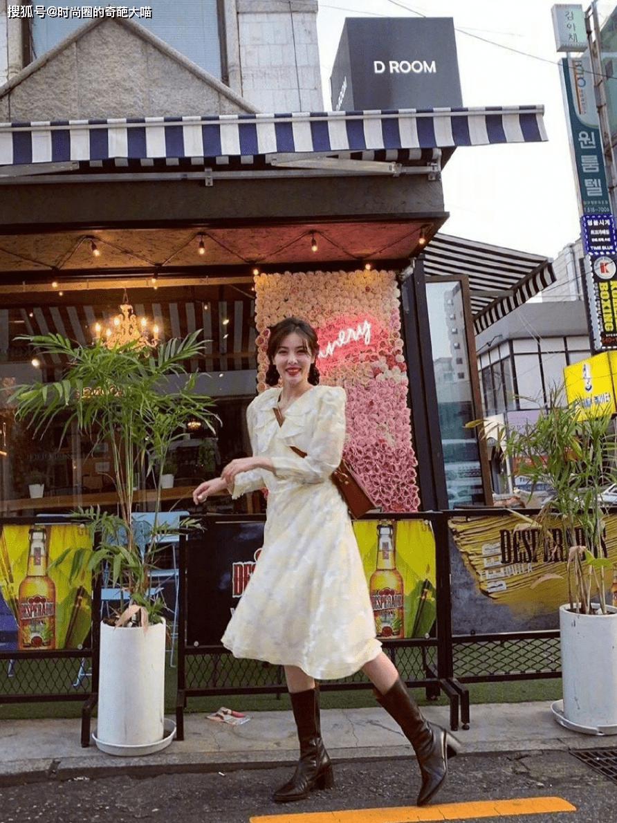 原创             初恋裙换新花样!奶油感甜而不腻,露思景甜不同身材也穿出同样美