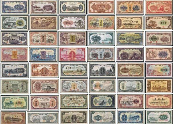 这些钱币图案大都是农业工业畜牧图案票面特别漂亮你见过嘛