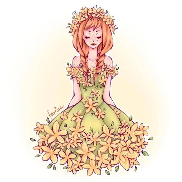穿鲜花裙的迪士尼公主 ,茉莉公主温柔唯美,艾