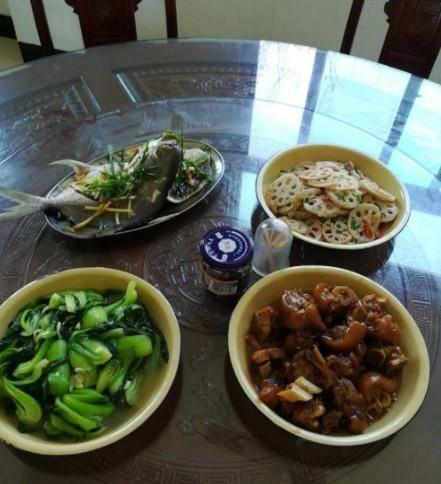 去同学家待了三天,每天吃这样的菜,真想赖着不走了!
