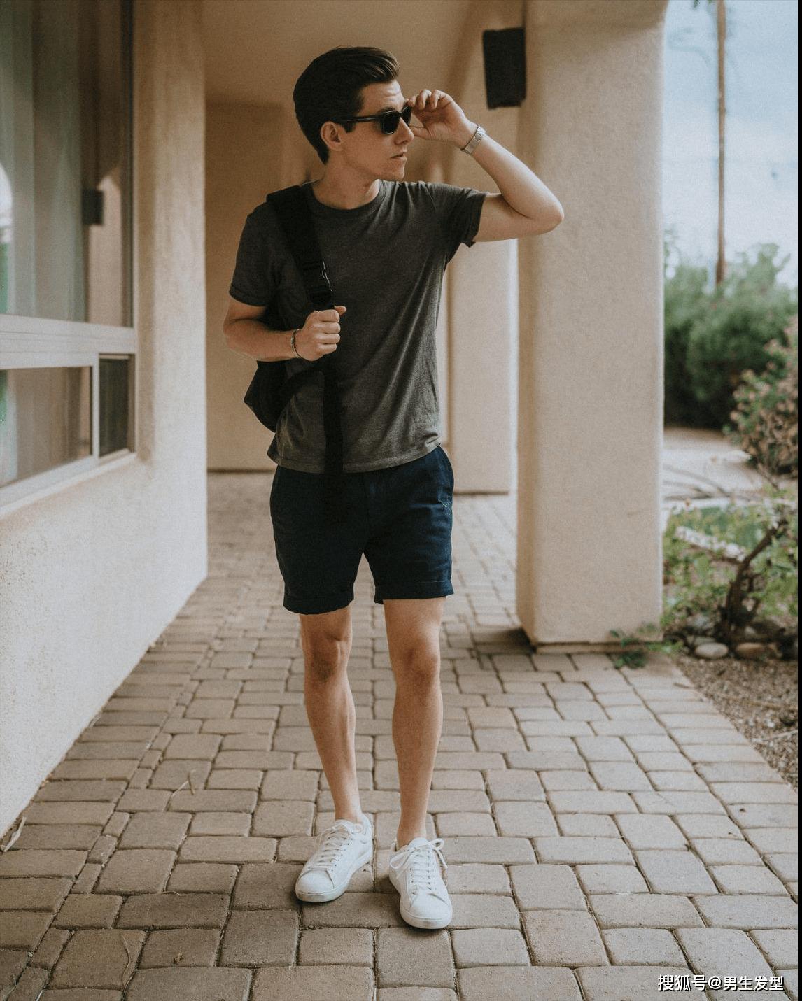 """夏天短裤那么多 还是这条""""四分裤""""时髦百搭 这样穿更显魅力 爸爸 第8张"""