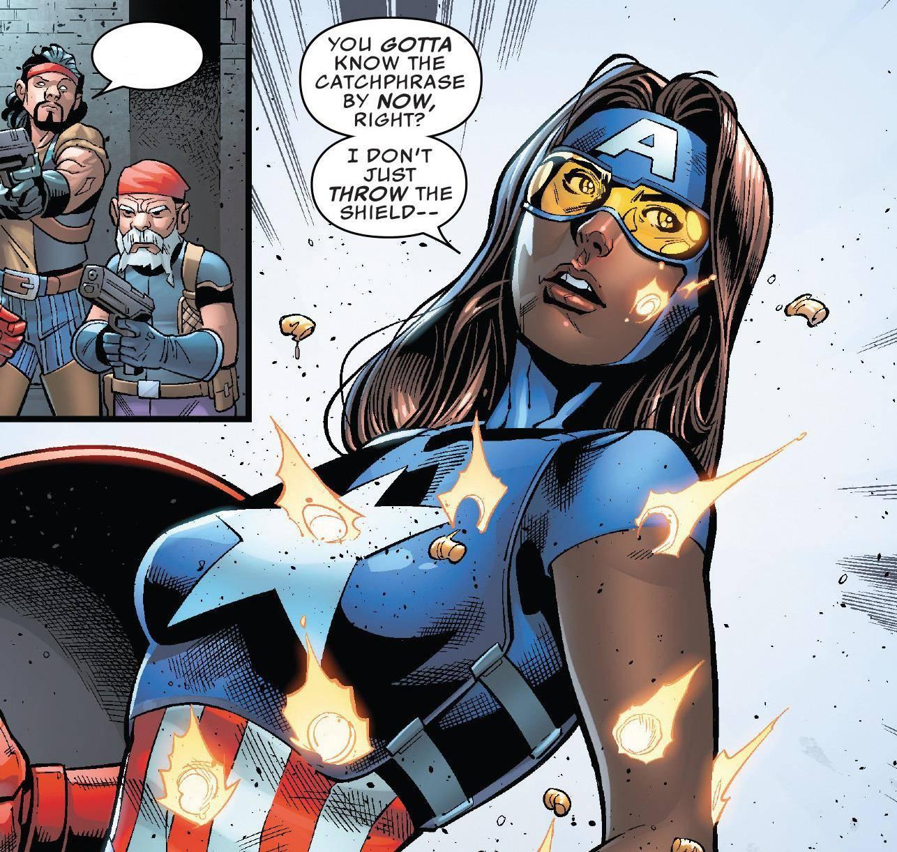 不满猎鹰接任?这个超英二代混血女美国队长,也能举起雷神之锤_丹妮尔·凯奇