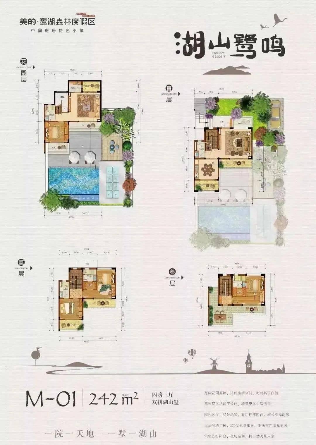 美的鹭湖国家5A级景区建的别墅总价230万起,独栋500万起