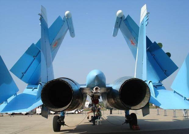 Russian Su 33 carrier-based fighter
