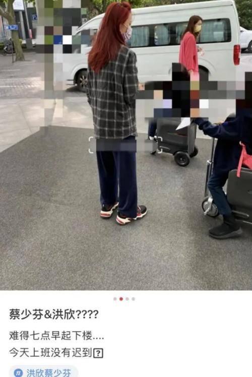 蔡少芬洪欣街頭吵架,洪欣面容憔悴,張丹峰事件對她影響太大