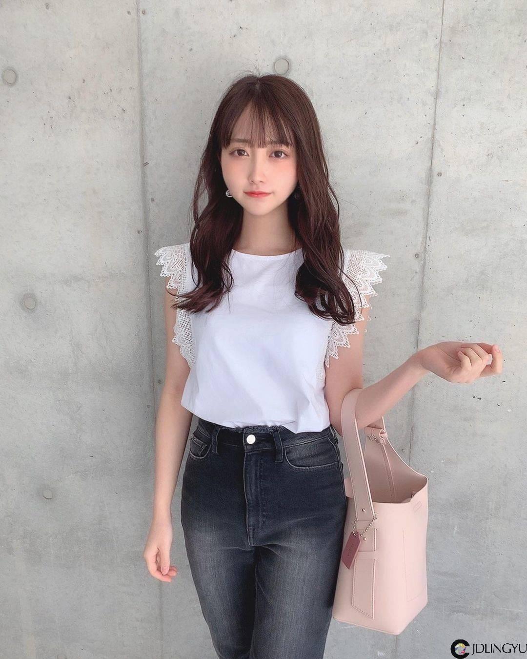 福冈美少女「miyu」甜美侧拍超可爱,神正颜值让人恋爱!