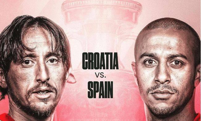欧洲杯1/8决赛直播:克罗地亚vs西班牙 势均力敌,莫德里奇扮演重要角色!