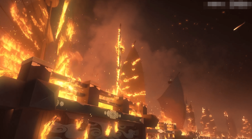 图片[12]-真·还原历史!大佬硬核复刻火烧赤壁,狂肝一月做的船说烧就烧!-妖次元