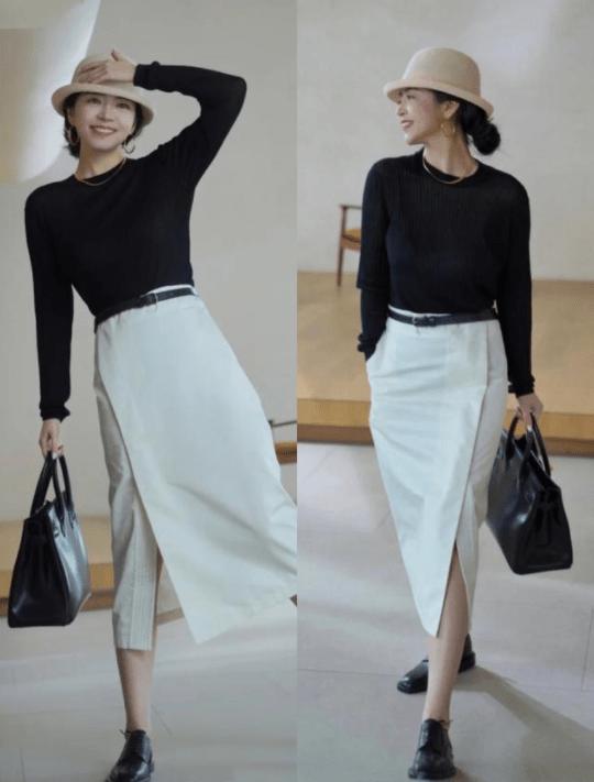 博主三木教你领略简约,照着搭配黑白造型,轻松展现时尚高级感