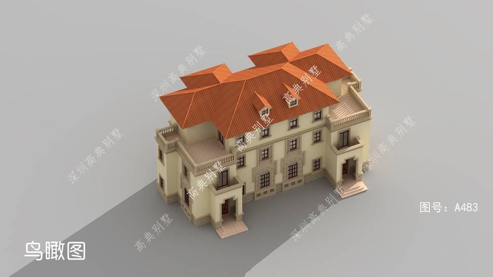 双拼排行_堂屋的欧式双拼三层别墅,经典大气不过时,适合乡村自建.