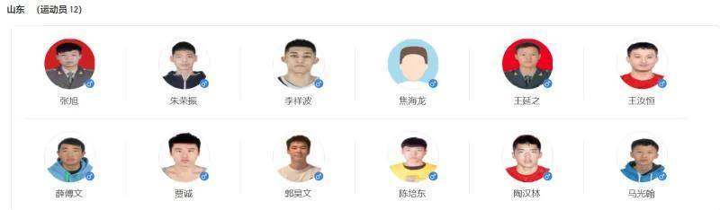 全运会男篮八强球员名单公布 广东辽宁阵容豪华