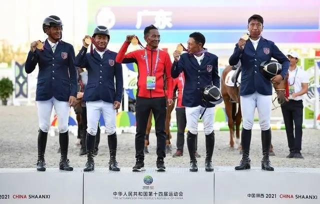 西藏队陕西全运会马术三项赛团体夺冠,上海、广东分获二三名