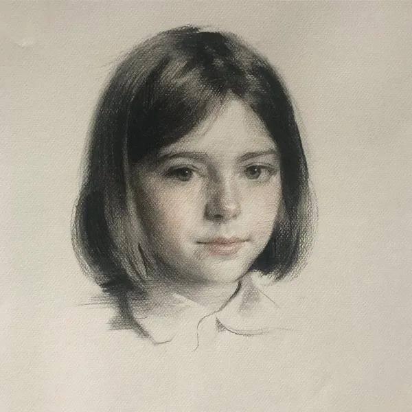 简洁不失精致的素描,英国画家弗朗西斯·贝尔作品