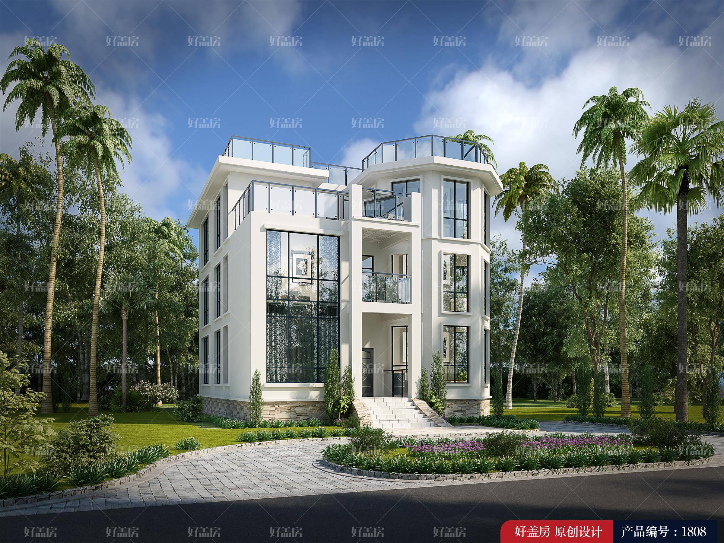 盖房子设计图农村三层