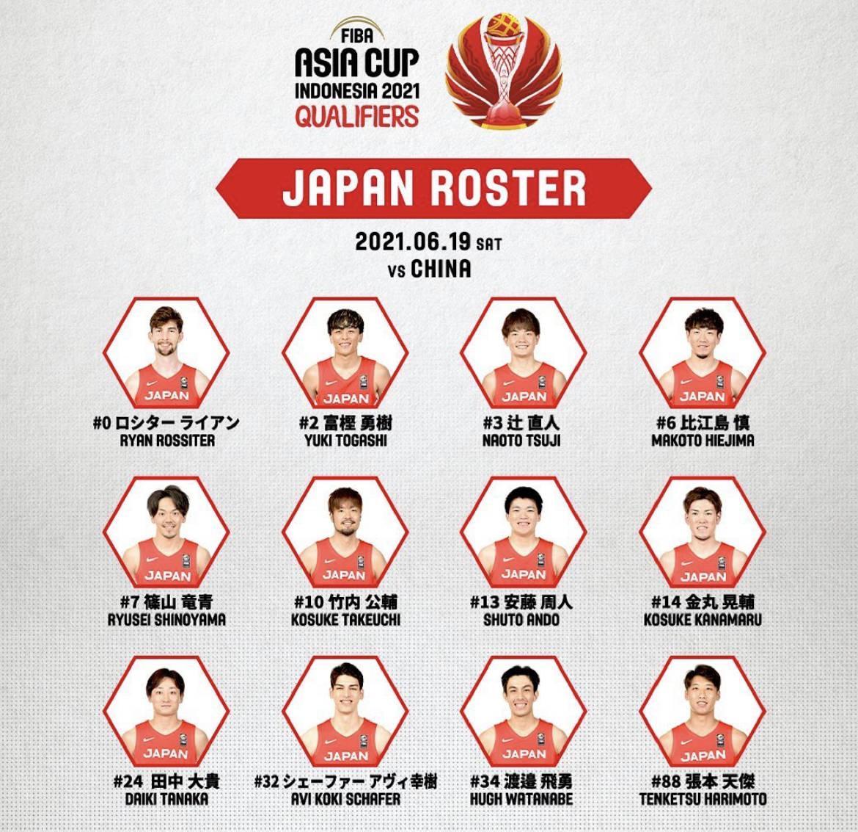 日本公布战男篮12人名单 张本天杰在列罗斯特出战