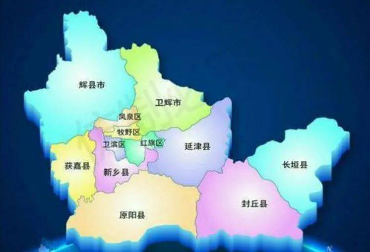 新乡市经济总量排名_新乡市地图